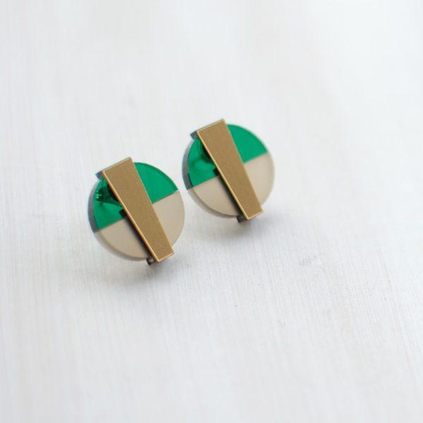 Duo Vert Taupe Doré