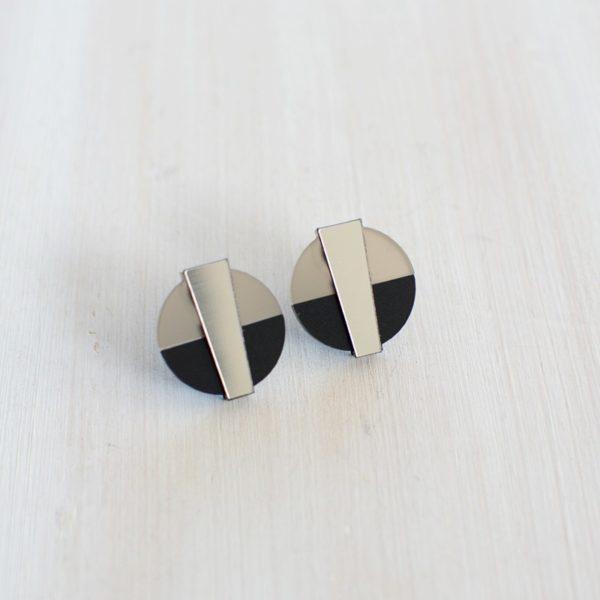 Boucles d'oreilles en plexi, création design made in Belgium