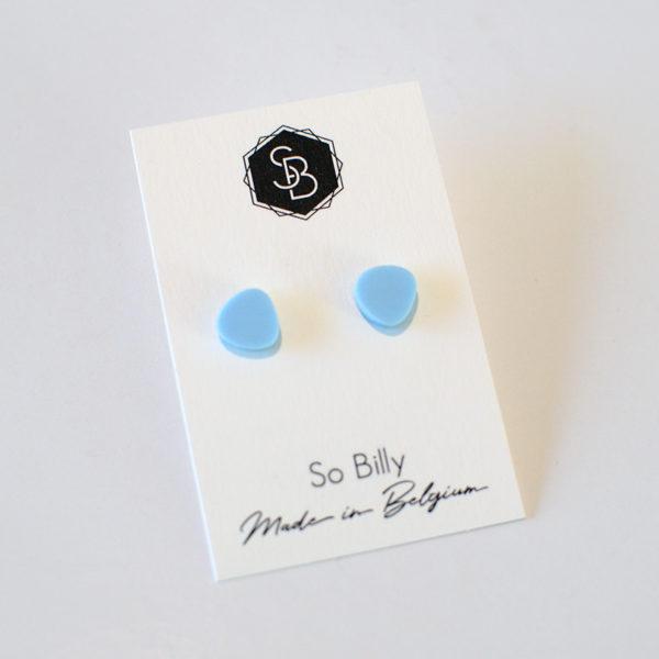 mini oave bleu pastel boucles d'oreille