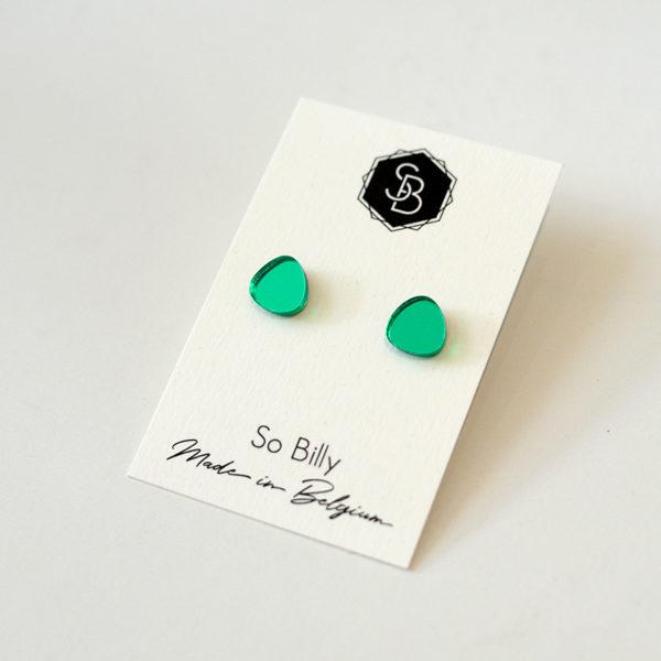 mini oave vert turquoise miroir