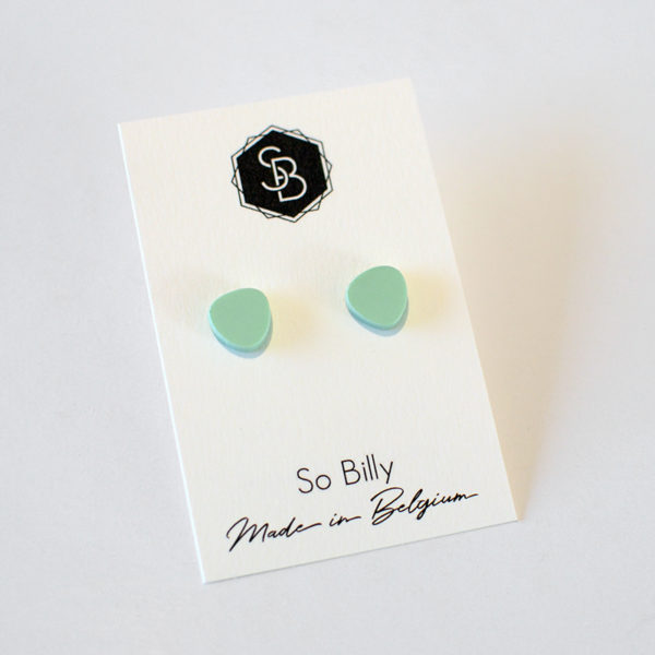 boucles d'oreilles so billy mini oave vert pastel mat